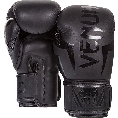 Venum Erwachsene Boxhandschuhe Elite, Matt Schwarz, 12oz, EU-1392 -