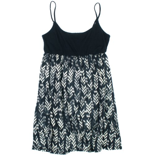 Roxy Womens Spaghetti Strap Dress L Navy & White