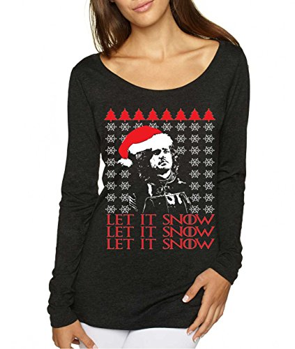 Let It Snow Ugly Christmas Jon Snow Top