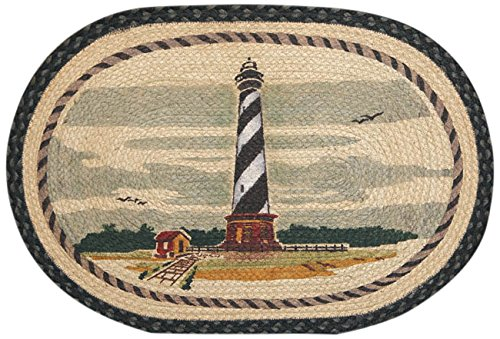 Earth Rugs 90-1034 Cape Hatteras Oval Design Rug, 20 by 30