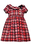 Bonnie Jean Little Girls Short Sleeve Plaid Collar Dress