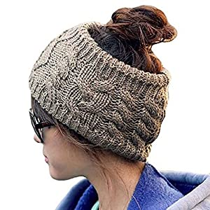 Eforcase Womens Girls Fashion Winter Knit Crochet Hair Band Wide ...
