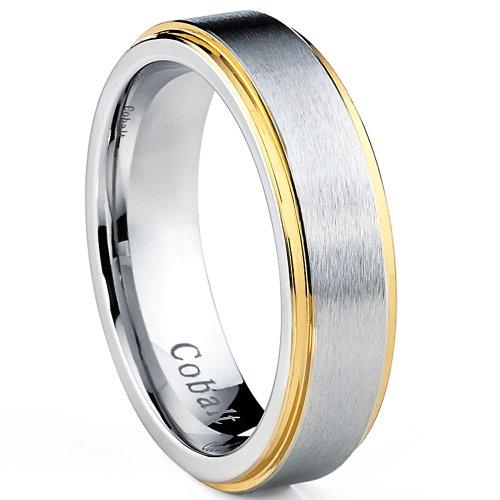 ultimate-metalsr-6mm-anello-di-fidanzamento-di-cobalto-placcato-doro-da-uomo-fede-nuziale-di-cobalto