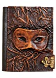 Embossed Eye Mask Vintage Style Handmade Leather Amazon Kindle Cover Case For Kindle Touch - Kindle 4 - Kindle 5 - Kindle Paperwhite