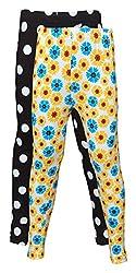 Little Stars Girls' Cotton Regular Fit Leggings- Pack of 2 (Po2Gpl_3203_26, Multi-Colour, 5-6 Years)
