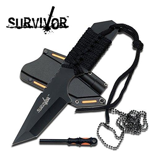 SALE Full Tang Survival Neck Knife & Fire Starter HK762BK