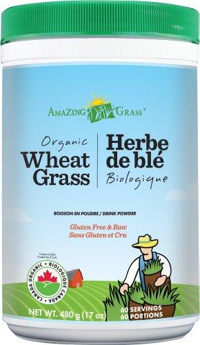 AMAZING GRASS Organic Wheat Grass Powder 有机小麦草粉 480g $25.81(需Coupon,约¥250)有喜