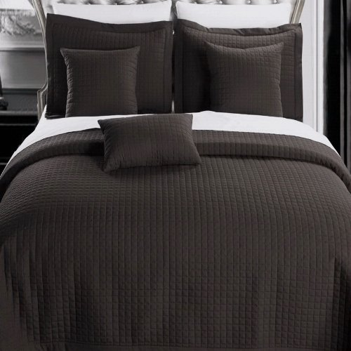 Chocolate Brown Coverlet front-828589