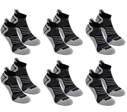 6Pack Brubaker Zapatillas Función Calcetines con pestaña suave talón para deportes, correr, Mountain Biki 24.99€