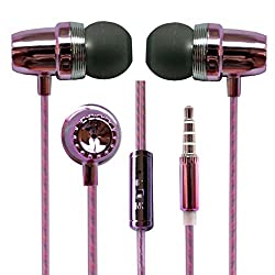 Hello Zone Fragranced and Scented Headset Handsfree Headphone Earphone with Mic 3.5 MM Jack for Adcom A-400i -Pink