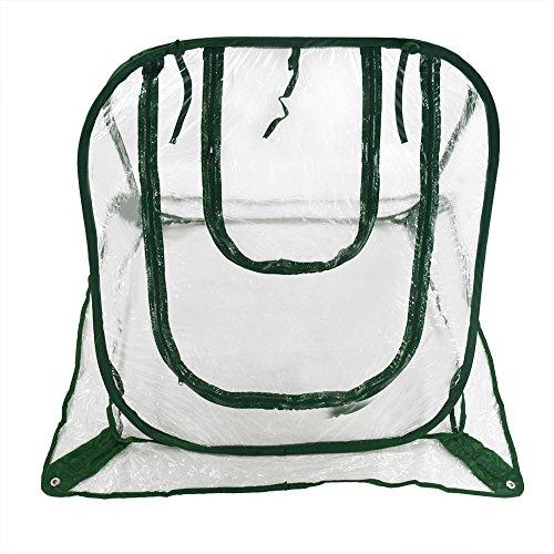 Pop Up serra Trasparente Cover per freddo gelo Schermo giardinaggio piante Vaso da fiori Shelter 66x 66x 66cm