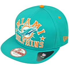 Miami Dolphins TEAM SIZER SNAPBACK 9Fifty New Era NFL Hat = Med Large by New Era