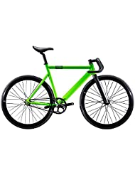 State Bicycle 6061 Black Label Fixed Gear Bike - Zombie Green, 52 cm