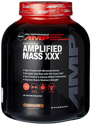gnc-pro-performance-amp-amplified-mass-xxx-weight-gainer-chocolate-6-pound-by-gnc