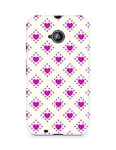 Amez designer printed 3d premium high quality back case cover for Motorola Moto E2 (Romantic Pink n White Color Hearts2)