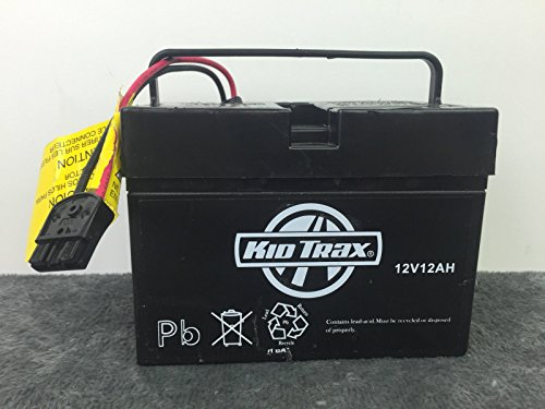 Kid Trax 12V 12AH Battery with Black Plug GENUINE (Kid Trax Battery compare prices)