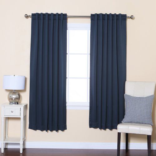 ... Fashion Thermal Insulated Blackout Curtain with Solid Back Tab, 52-Inc