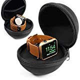 Orzly® Travel Vault for Apple Watch & Cable (Black Pouch Only - Cable & Watch Not Included)