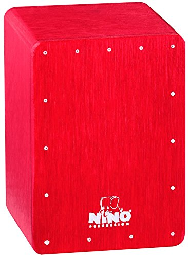 Nino Percussion NINO955R Mini Cajon Shaker, Red