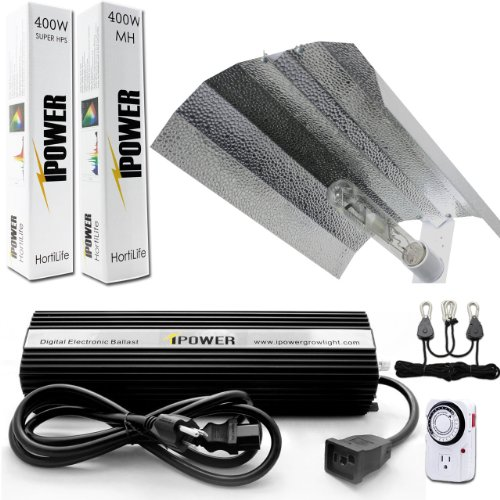 Ipower Glsetx400Dhmwing20T 400-Watt Light Digital Dimmable Ballast System For Plants With Wing Set And Timer