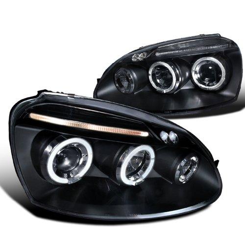 Volkswagen Golf Rabbit Jetta Black Dual Halo Led Projector Head Lights