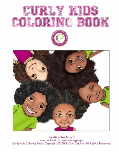 Curly Kids Coloring Book