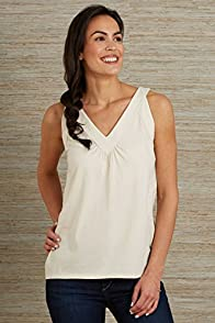 Fair Indigo Wide Trim V-Neck Organic Fair Trade Tank
