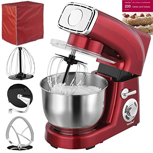 Modern Exhibition Stand Mixer : Vonshef stand mixer qt w red silicone beater