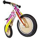 Kiddimoto Kurve Balance Bike Rainbow Union Jack by Kiddmoto