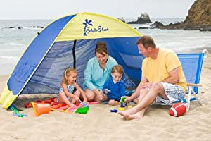 Shade Shack Instant Pop Up Family Beach Tent and Sun Shelter from Shade Shack