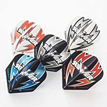 5 x SETS PHIL TAYLO RTARGET POWE RARC MIXED COLOURS STANDARD DART FLIGHTS