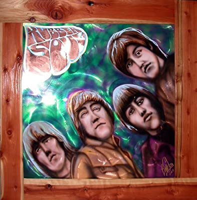 Sale! Original Beatles Rubber Soul album cover painting on Copper by Bill Foss