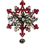 Red Snowflake with Bell Ornament
