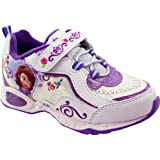 DISNEY Sofia The First Athletic Shoe (Toddler/Little Kid),White/Purple,8 M US Toddler