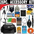26 PC ULTIMATE SUPER SAVINGS DELUXE DB ROTH ACCESSORY KIT For The Pentax K-X SLR Digital Camera