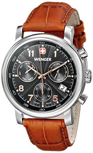 Wenger 011043103 - Reloj de pulsera hombre, piel, color marrón