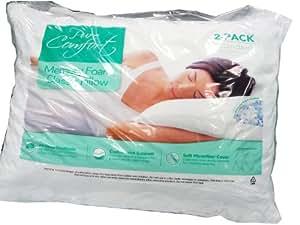 Pure Comfort Memory Foam Classic Pillow Standard Size 2-Pack