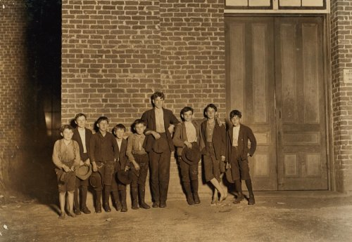 1908 child labor photo A few of the youngsters employed in Clinton Mills (S.C.) Going home from work