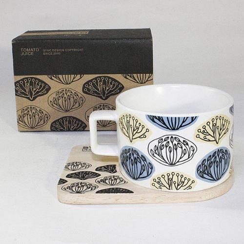 SYNC - [Glossy Ganoderm ] Espresso Cup / Wood Coaster (2.5 inch height)