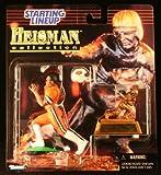 BARRY SANDERS / OKLAHOMA STATE UNIVERSITY COWBOYS * 1997 NCAA College Football HEISMAN COLLECTION Starting Lineup Action Figure, Football Helmet & Miniature 1988 Heisman Memorial Trophy