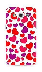 Amez designer printed 3d premium high quality back case cover for Samsung Galaxy Grand 3 (Awesome Heart pattern)