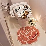 Disney(ディズニー) 美女と野獣 ベル トイレ蓋カバー&マット2点セット 100210701301-01-01