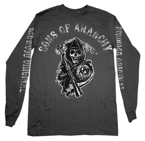 Sons Of Anarchy Reaper Logo Redwood Original Long Sleeve TShirt Select Shirt Size: X-Large