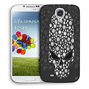 Snoogg Floral Skull Vector Designer Protective Back Case Cover For Samsung Galaxy S4