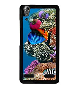 printtech Fish Ocean Coral Back Case Cover for Lenovo A6000