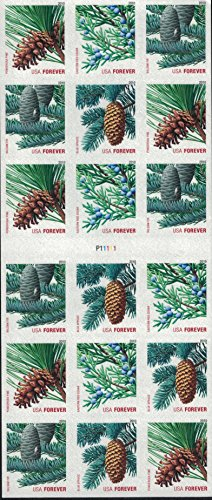 usps-forever-stamps-holiday-evergreens-sheet-of-18