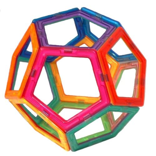 Pentagons tiles can be used with Magformers - Multicolor and New