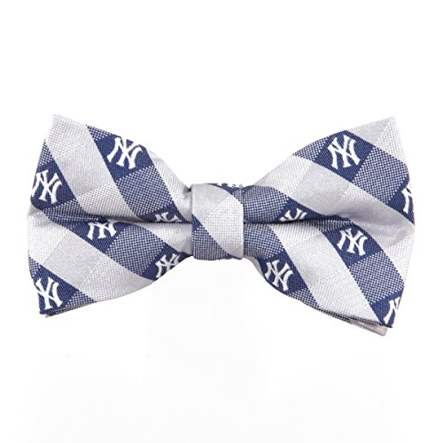 New York Yankees Checked Logo Bow Tie - MLB Baseball Team Logo (New York Yankee Tie compare prices)