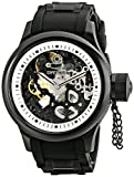 Invicta Men's RuSSian Diver Skelton Merchanical All Black Case Chronograph Watch 1091