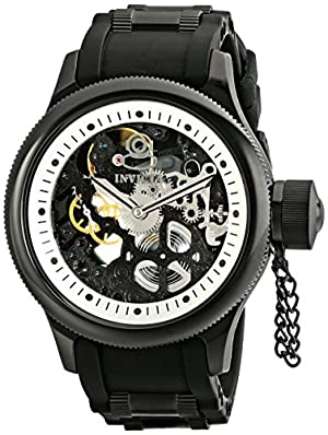 Invicta Men's 1091 Russian Diver Stainless Steel and Black Polyurethane